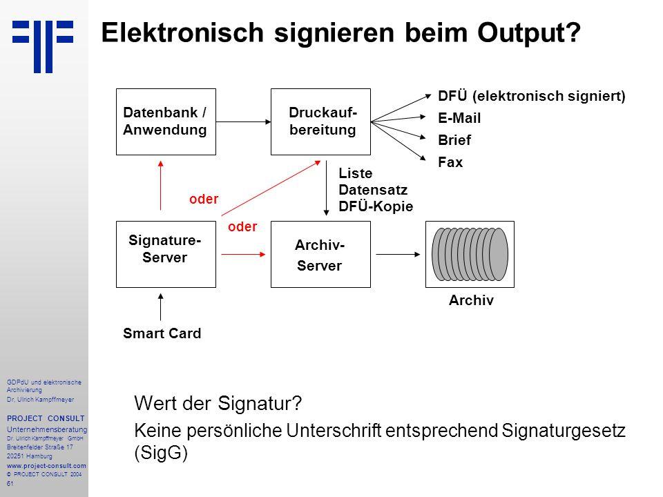 Elektronisch signieren beim Output