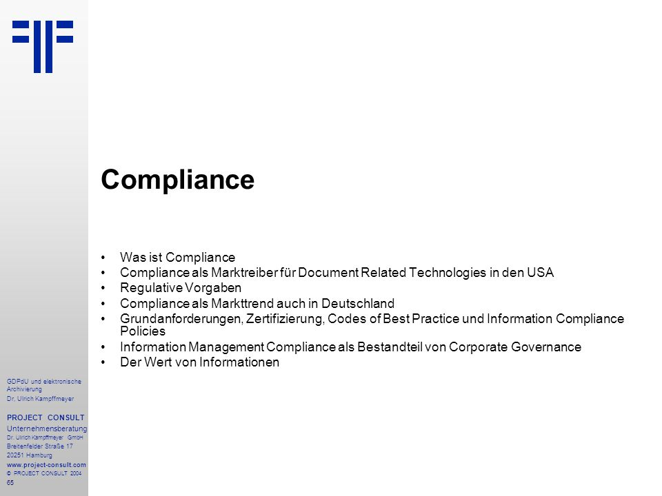 Compliance Was ist Compliance