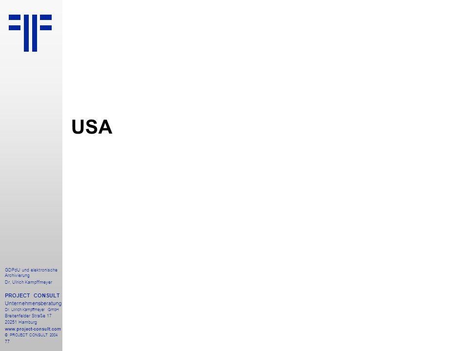 USA PROJECT CONSULT Unternehmensberatung