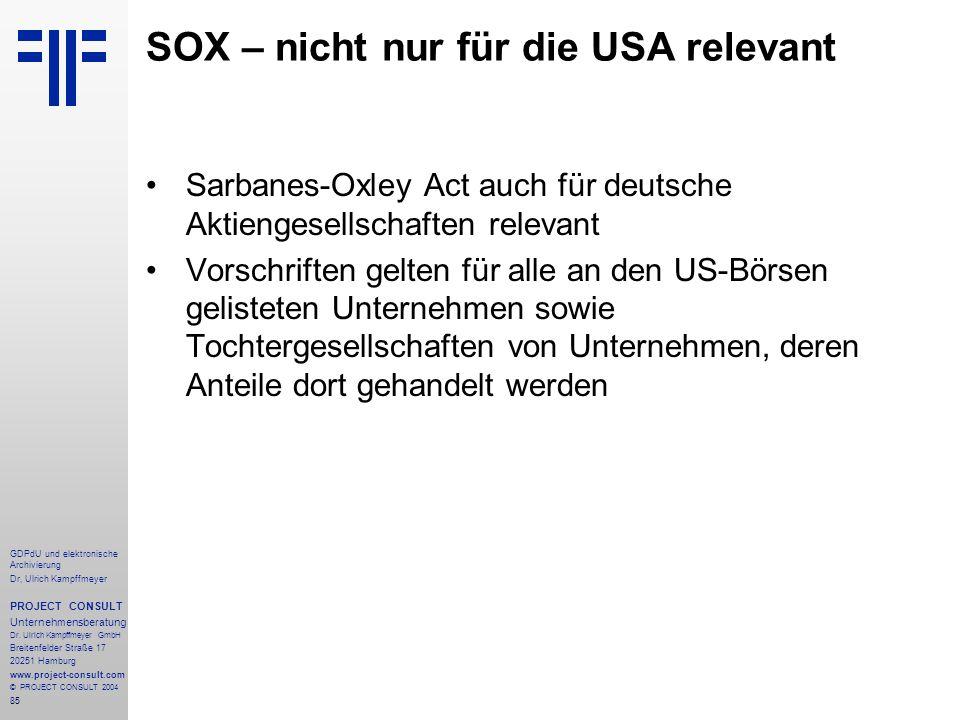 SOX – nicht nur für die USA relevant