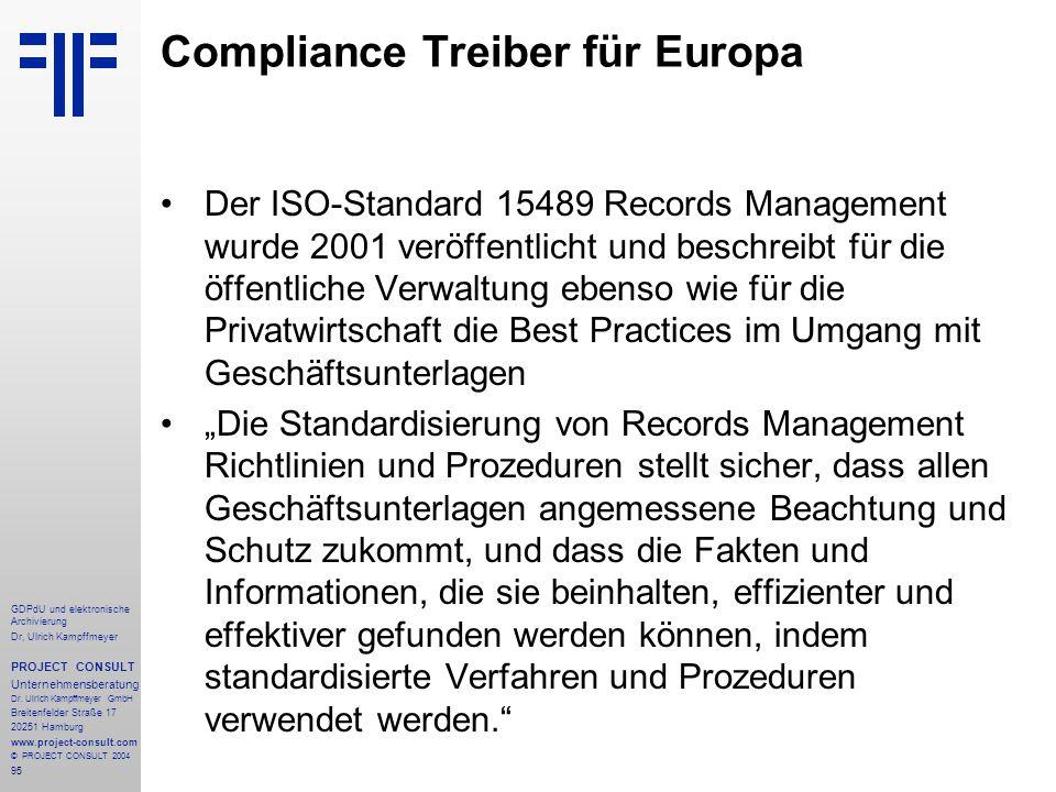 Compliance Treiber für Europa