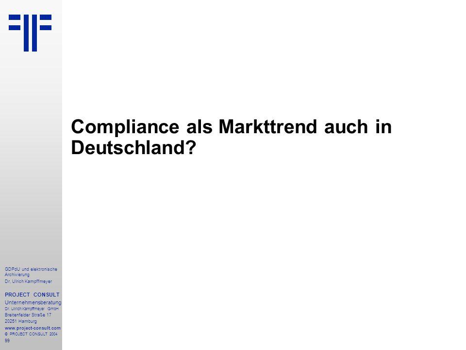 Compliance als Markttrend auch in Deutschland