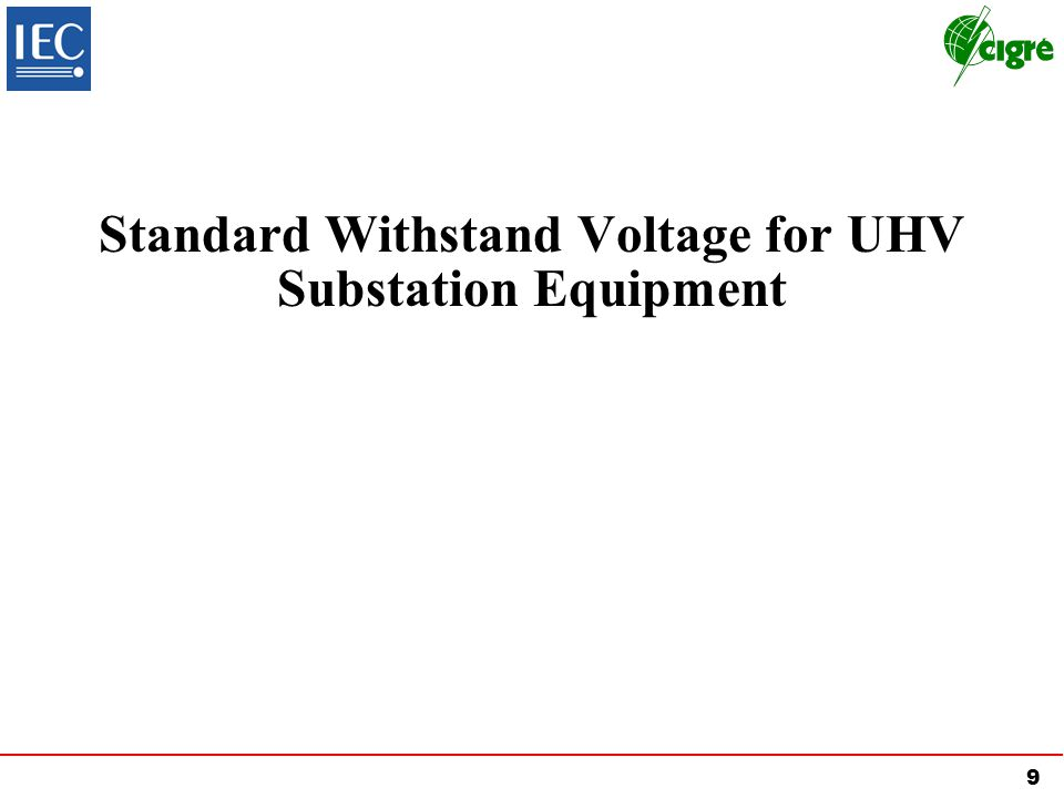 Standard Withstand Voltage for UHV Substation Equipment