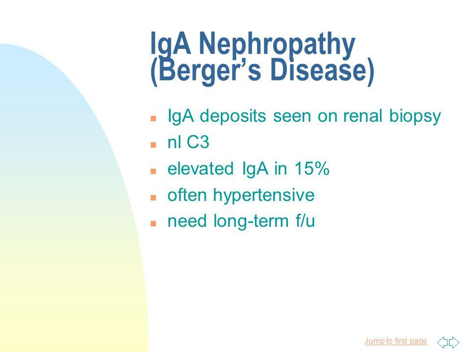 IgA Nephropathy (Berger's Disease)