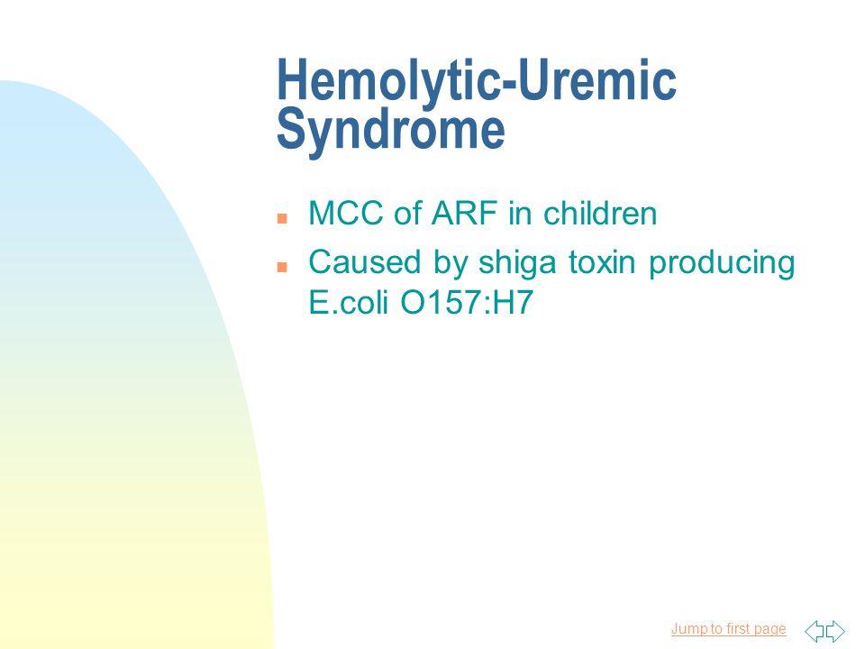 Hemolytic-Uremic Syndrome