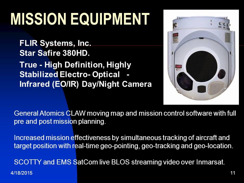 MISSION EQUIPMENT FLIR Systems, Inc. Star Safire 380HD.