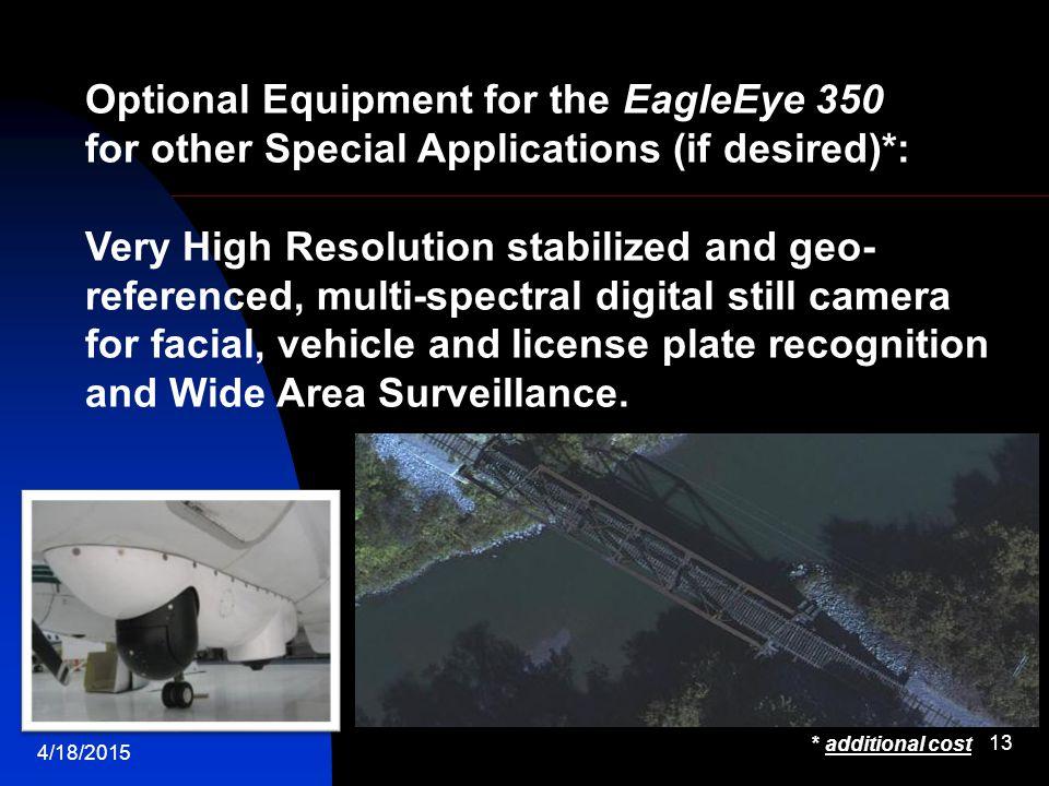 Optional Equipment for the EagleEye 350