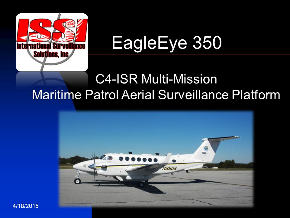 Maritime Patrol Aerial Surveillance Platform