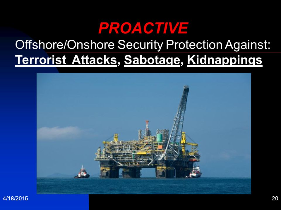PROACTIVE Offshore/Onshore Security Protection Against: