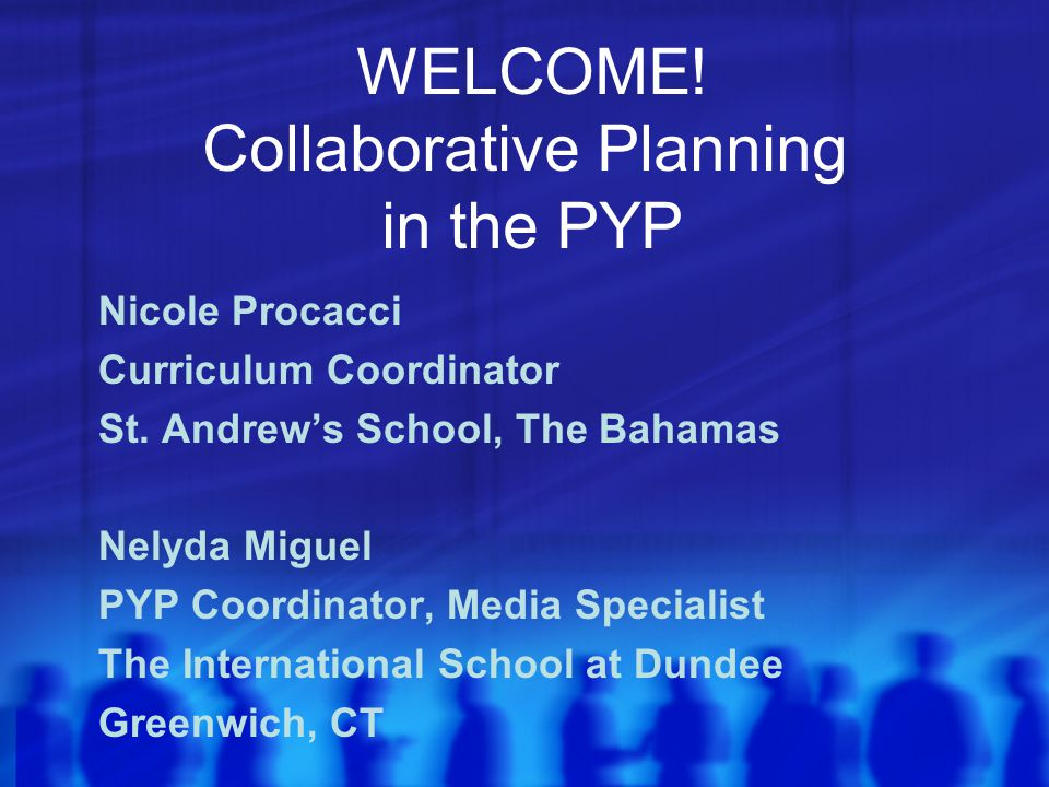 Collaborative Planning in the PYP