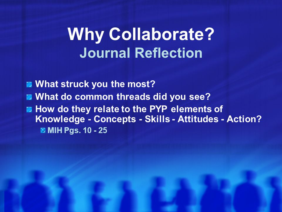 Why Collaborate Journal Reflection