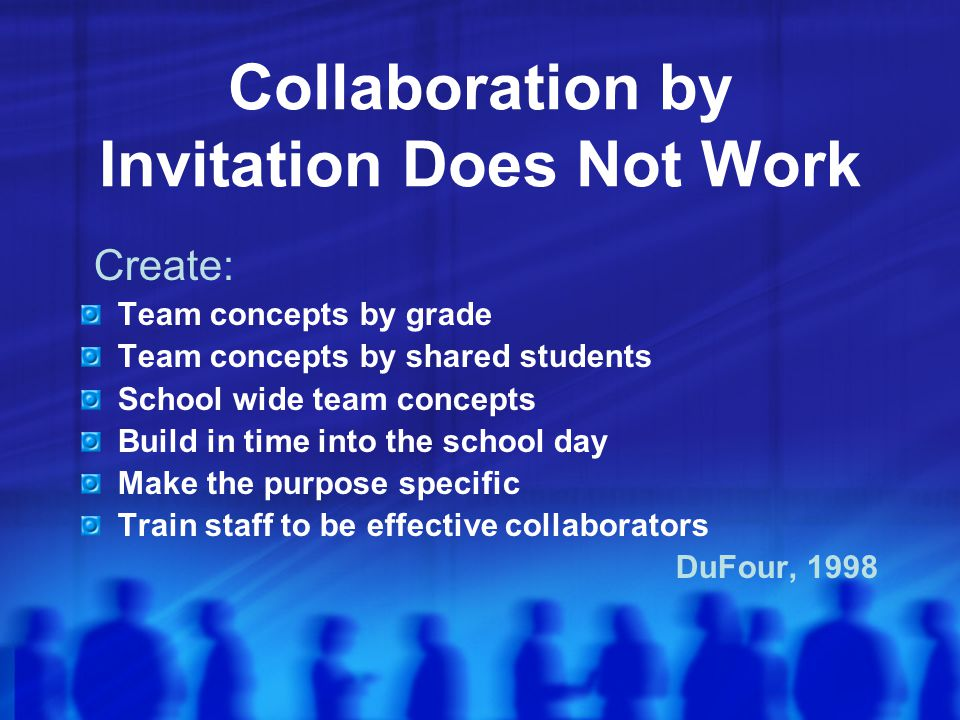 Collaboration by Invitation Does Not Work