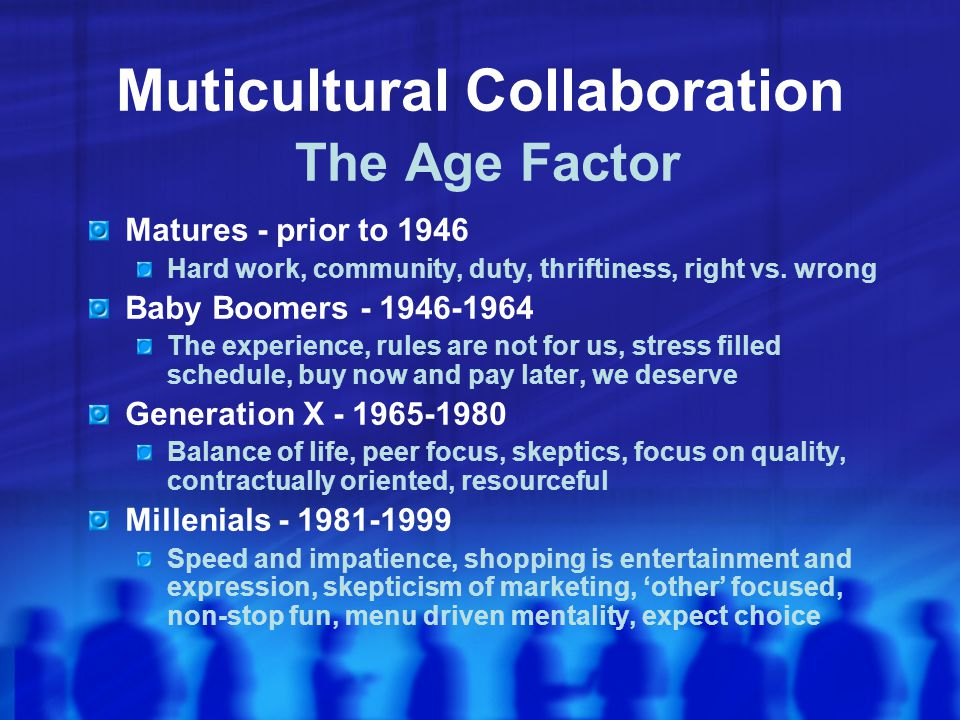 Muticultural Collaboration The Age Factor