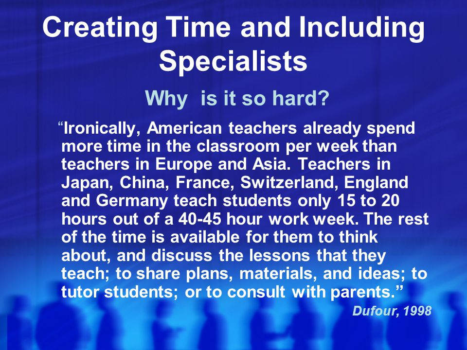 Creating Time and Including Specialists Why is it so hard