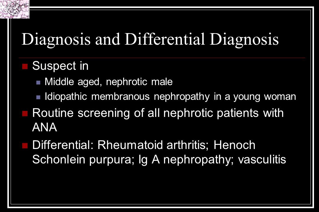 Diagnosis and Differential Diagnosis