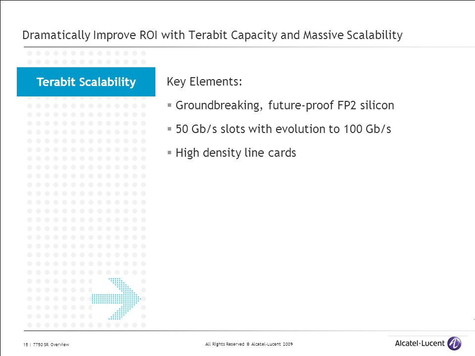 Dramatically Improve ROI with Terabit Capacity and Massive Scalability