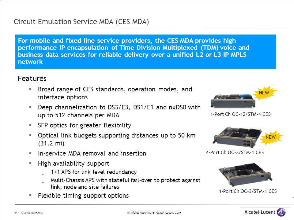 Circuit Emulation Service MDA (CES MDA)