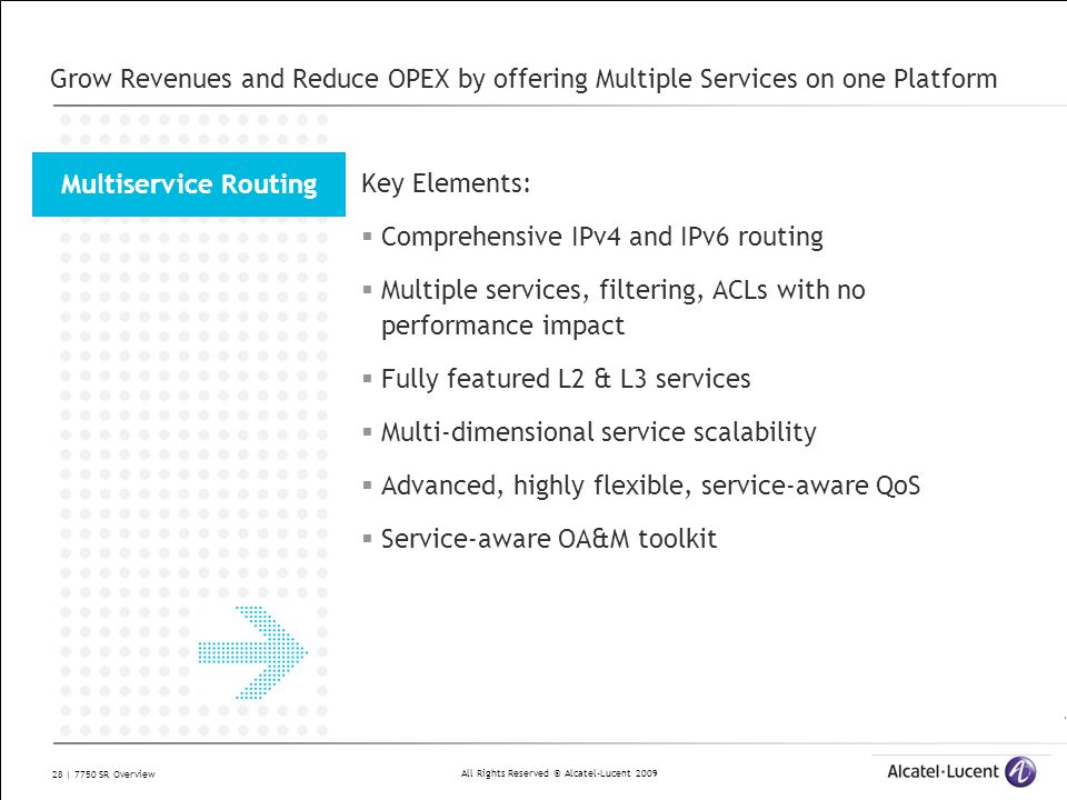 Grow Revenues and Reduce OPEX by offering Multiple Services on one Platform