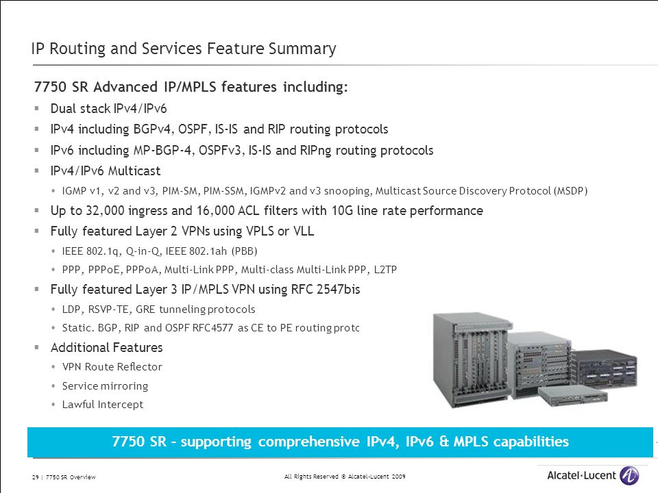 IP Routing and Services Feature Summary