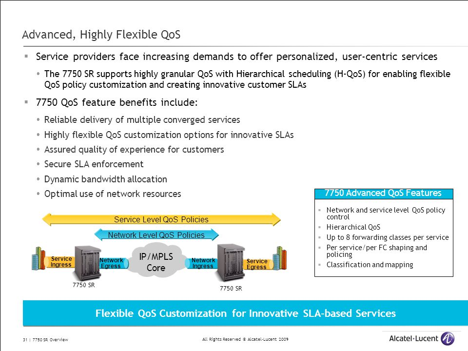 Advanced, Highly Flexible QoS