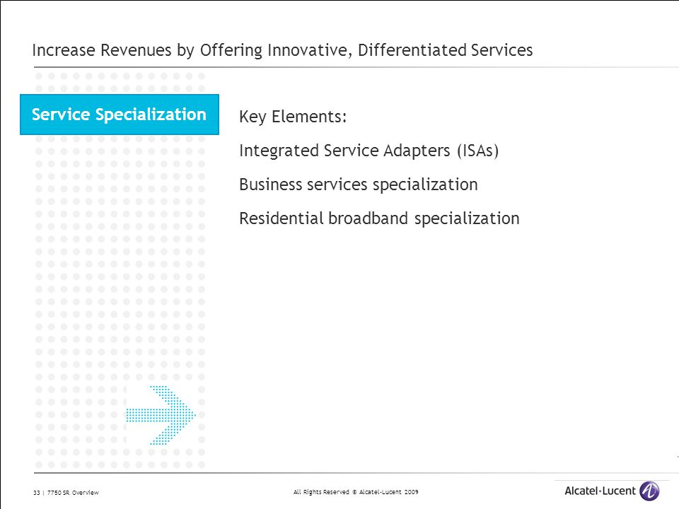 Increase Revenues by Offering Innovative, Differentiated Services