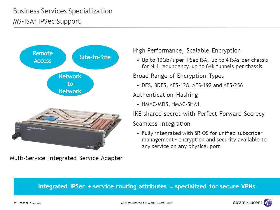 Business Services Specialization MS-ISA: IPSec Support