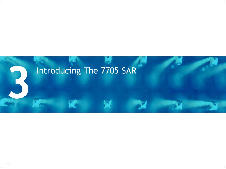 3 Introducing The 7705 SAR Divider Section Break Pages