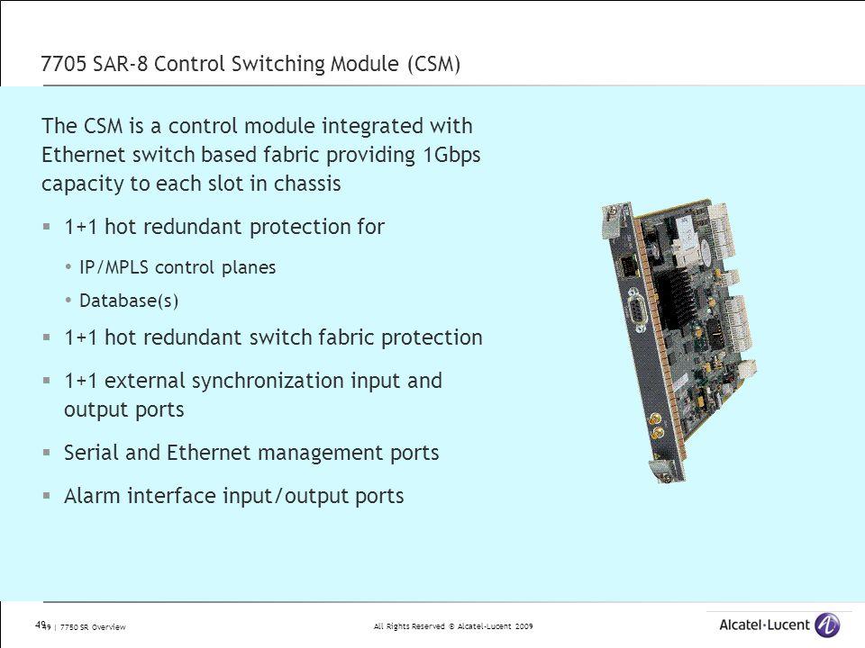 7705 SAR-8 Control Switching Module (CSM)