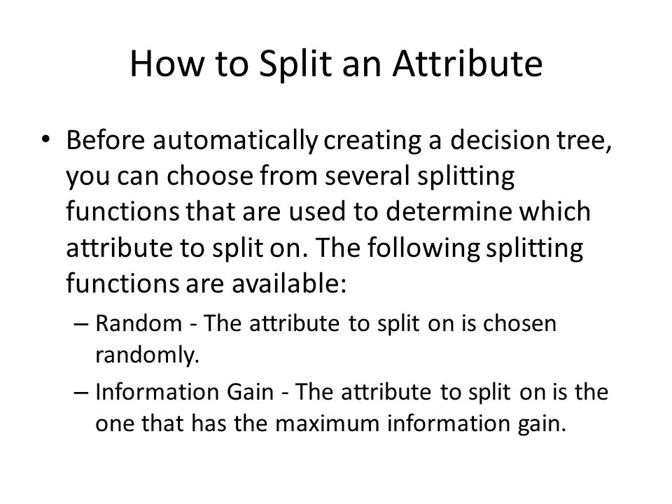 How to Split an Attribute