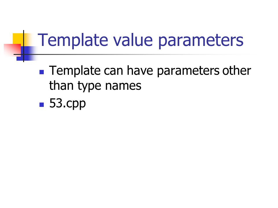 Template value parameters