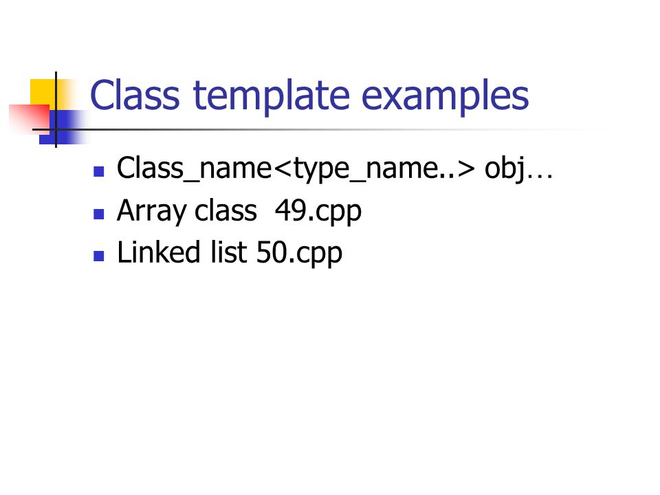 Class template examples