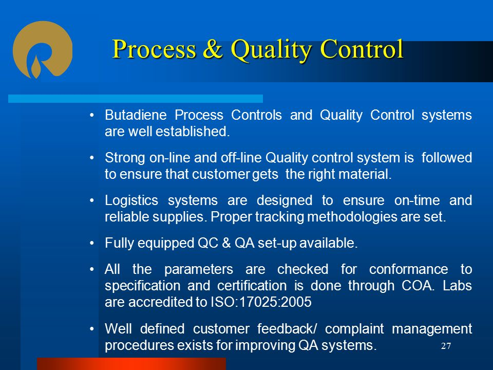 Process & Quality Control