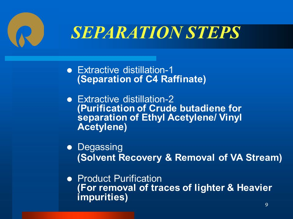 SEPARATION STEPS Extractive distillation-1