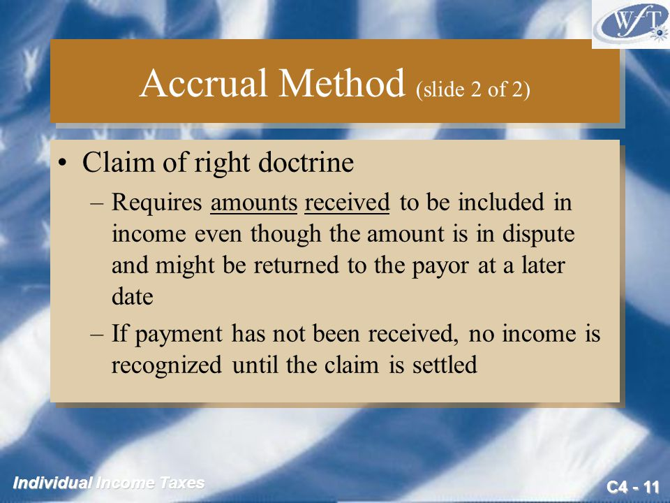 Accrual Method (slide 2 of 2)