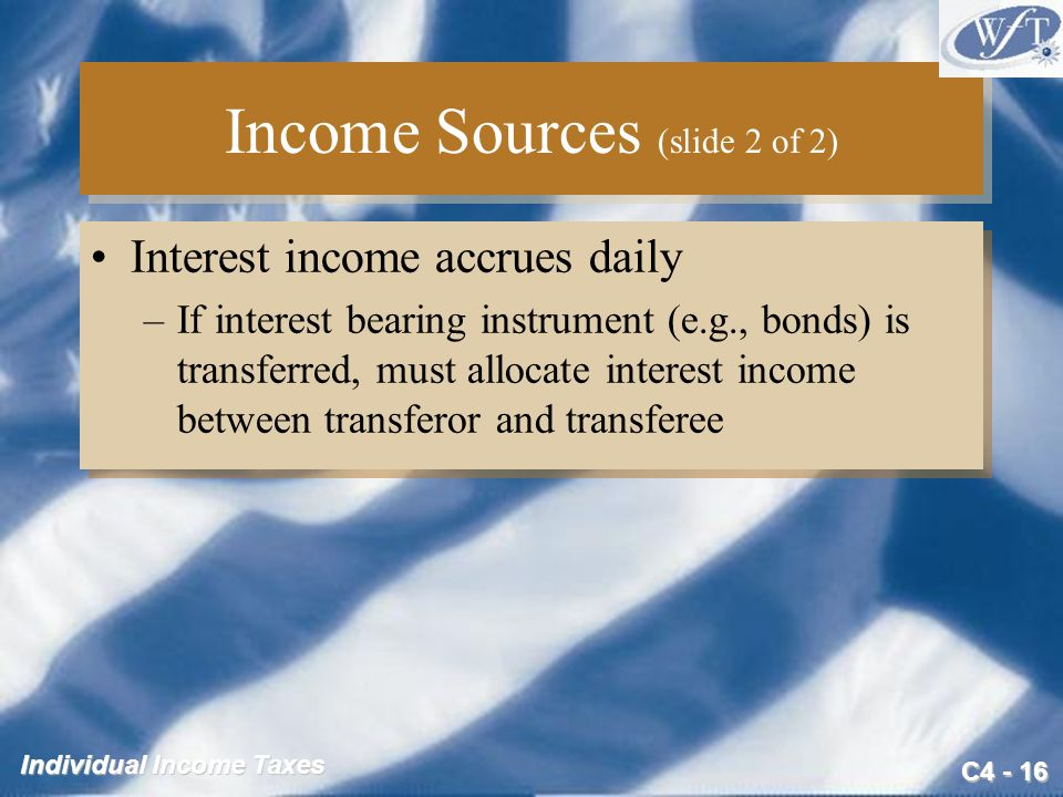 Income Sources (slide 2 of 2)