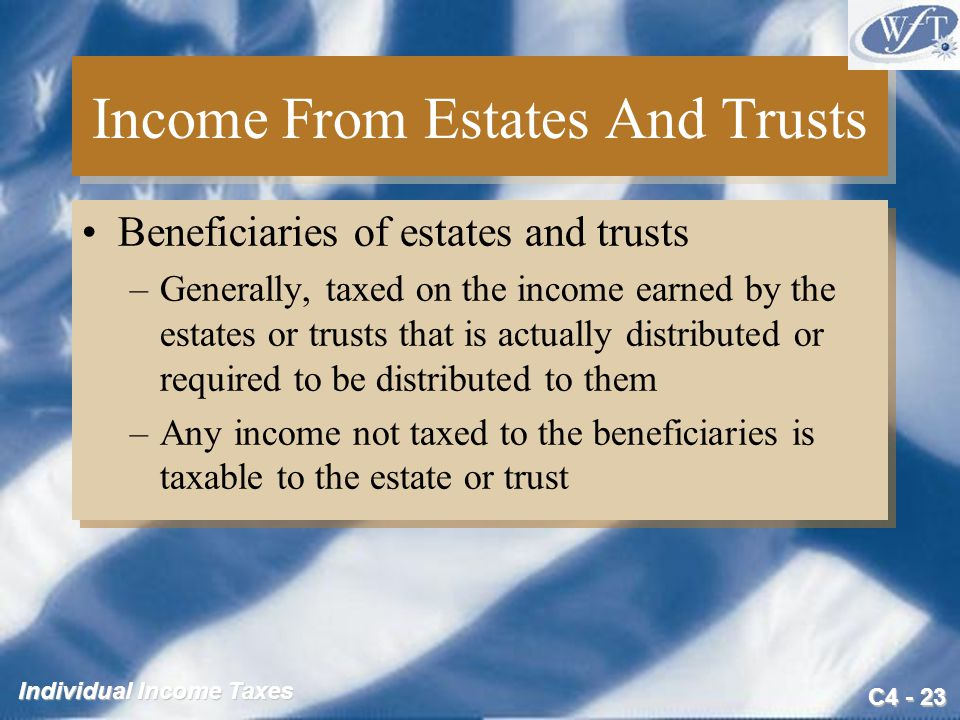 Income From Estates And Trusts