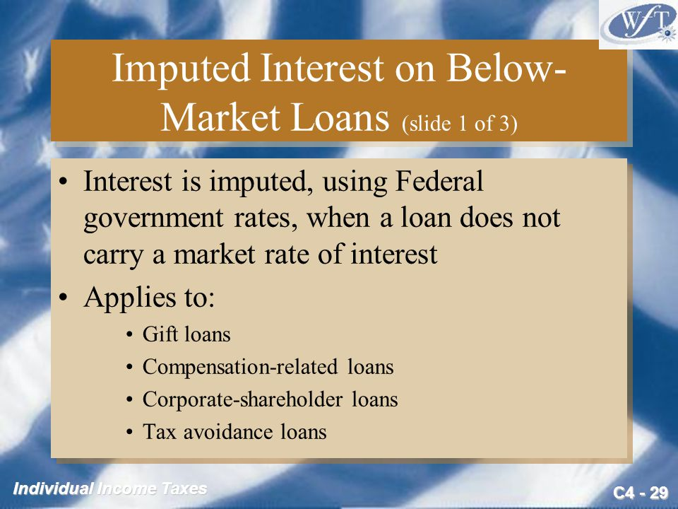 Imputed Interest on Below-Market Loans (slide 1 of 3)