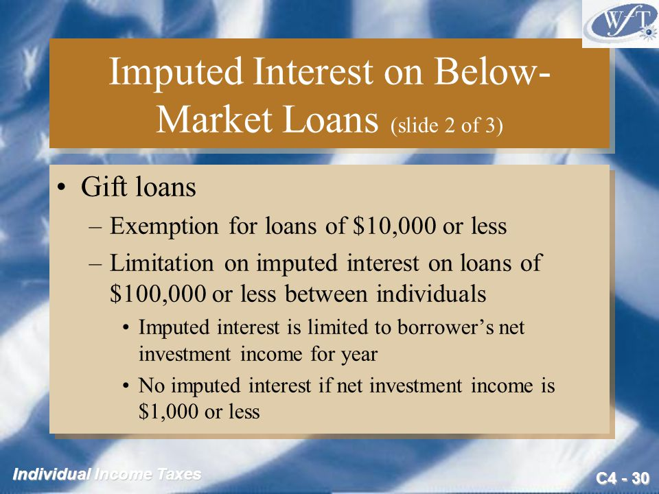 Imputed Interest on Below-Market Loans (slide 2 of 3)