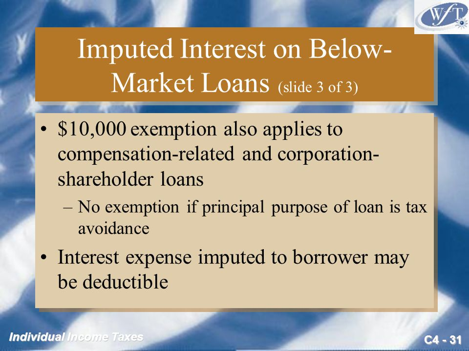 Imputed Interest on Below-Market Loans (slide 3 of 3)