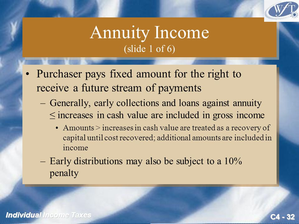 Annuity Income (slide 1 of 6)