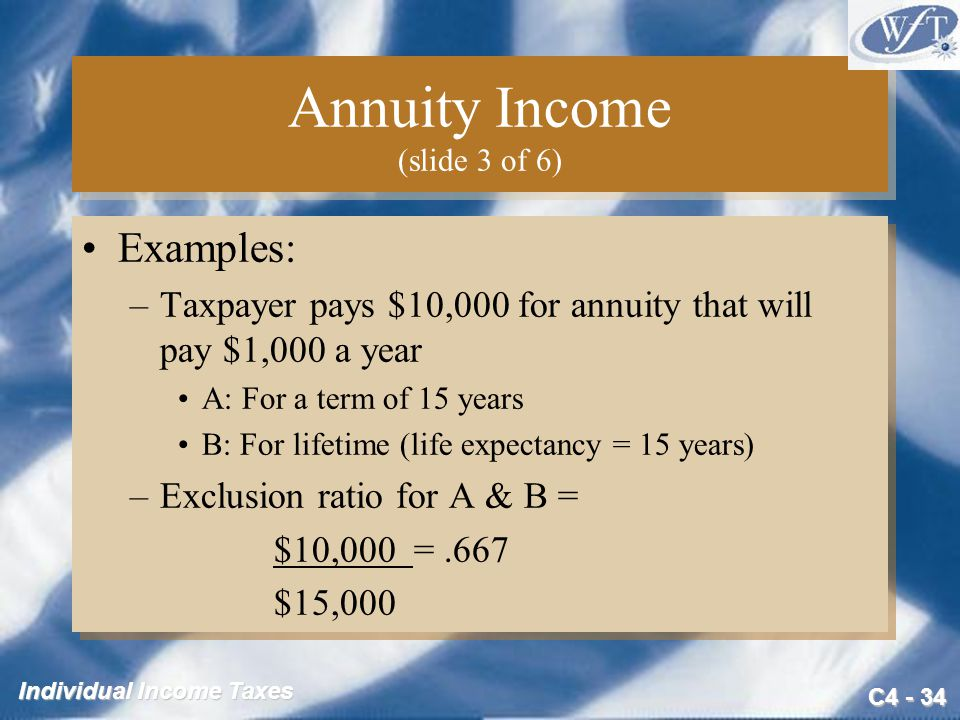 Annuity Income (slide 3 of 6)