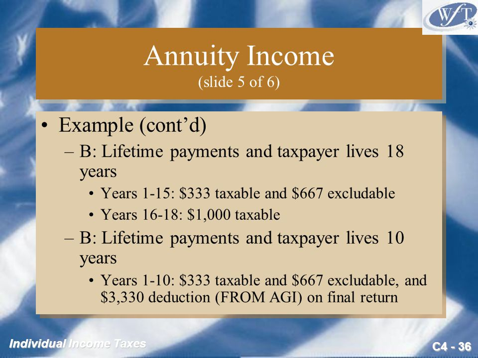 Annuity Income (slide 5 of 6)