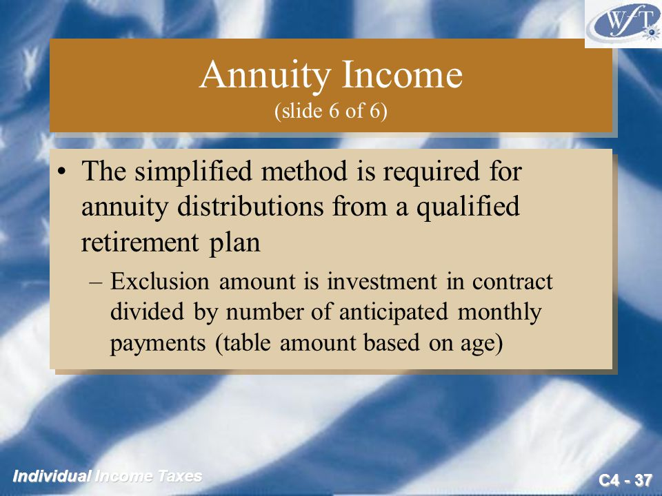 Annuity Income (slide 6 of 6)
