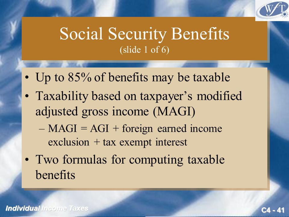 Social Security Benefits (slide 1 of 6)