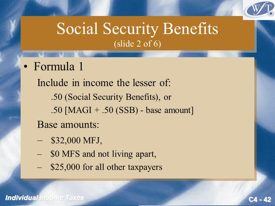Social Security Benefits (slide 2 of 6)