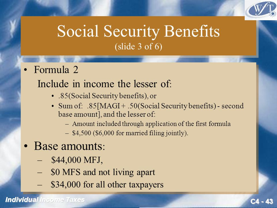 Social Security Benefits (slide 3 of 6)