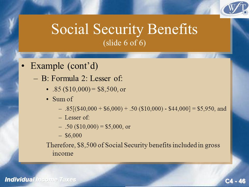 Social Security Benefits (slide 6 of 6)