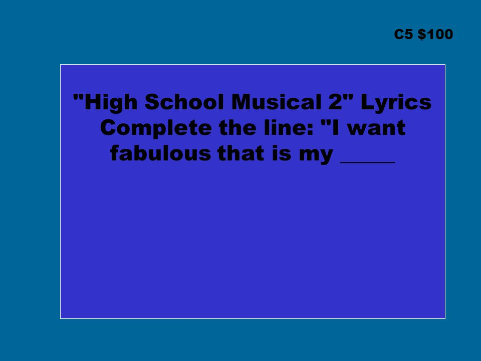 High School Musical 2 Lyrics