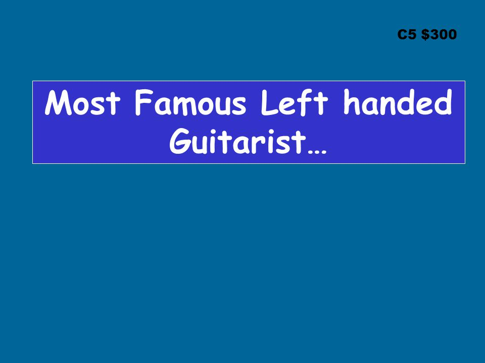 Most Famous Left handed Guitarist…