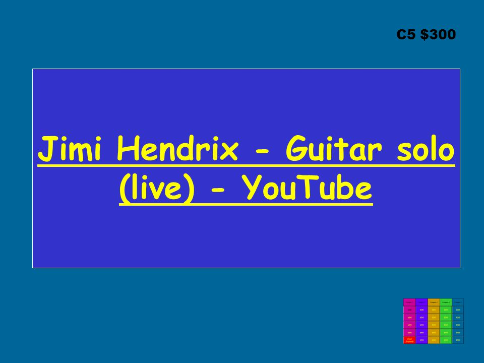 Jimi Hendrix - Guitar solo (live) - YouTube